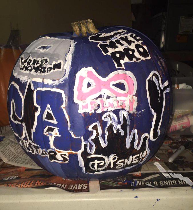 cheerleading halloween pumpkin of the california allstars nfinity athletic and disney world