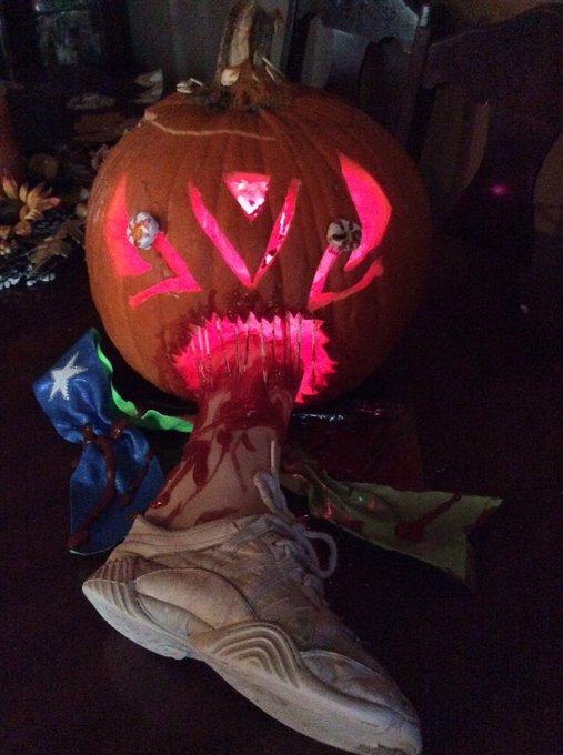 cheerleading halloween pumpkin