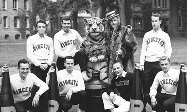 male cheerleaders at Princeton university. crushing Cheerleading myths