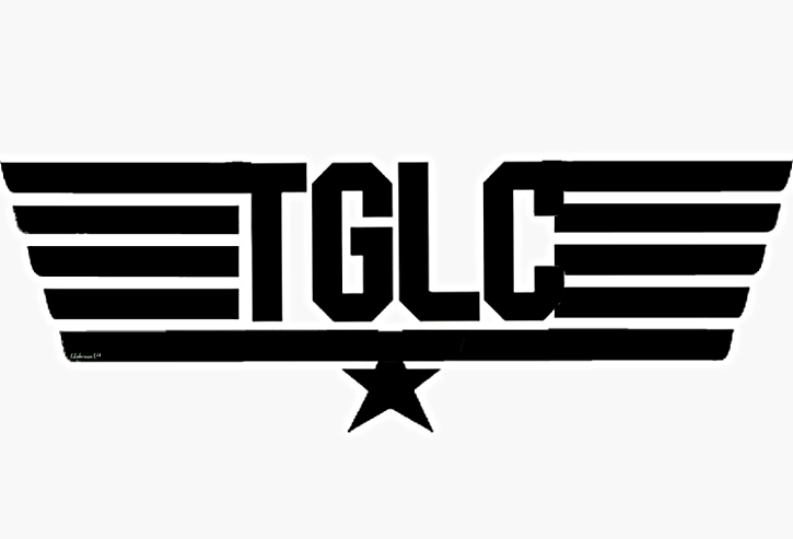 top gun allstars TGLC cheerleading sticker