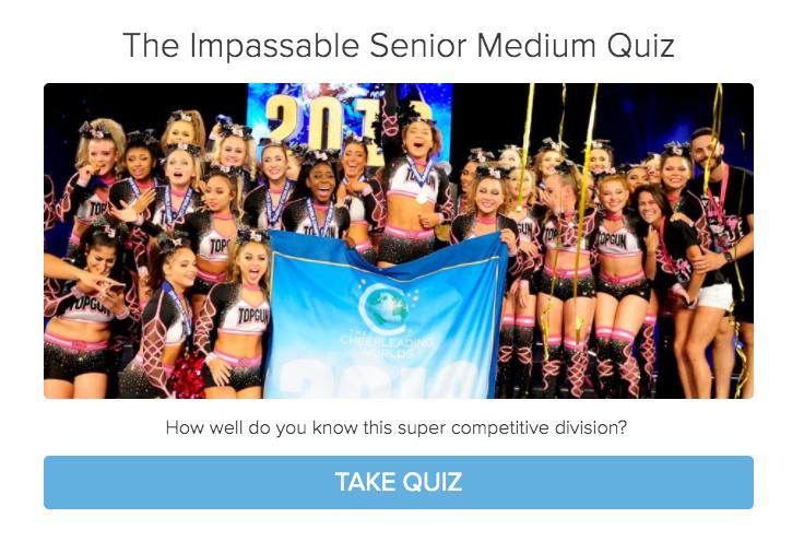 cheerleading medum senior division quiz