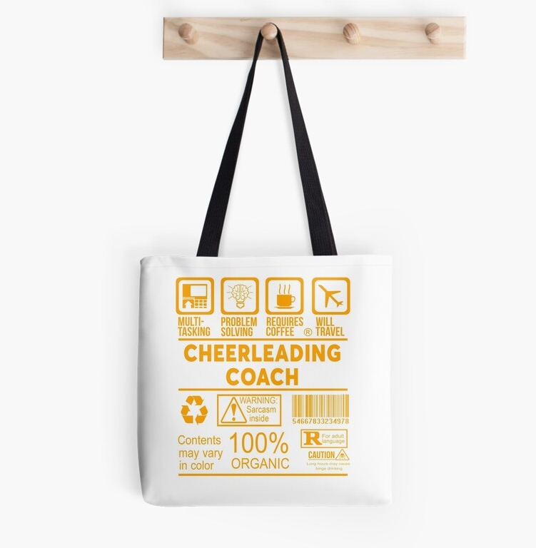funny cheerleading coach bag