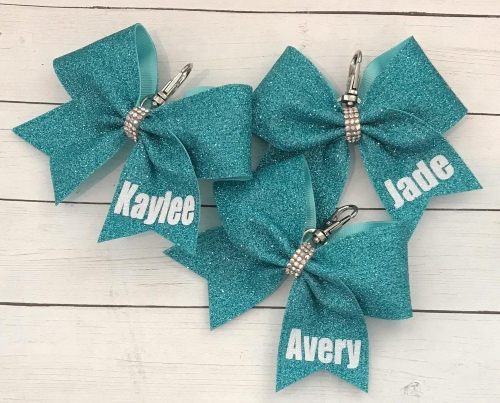 personalized cheerleading bow gift idea