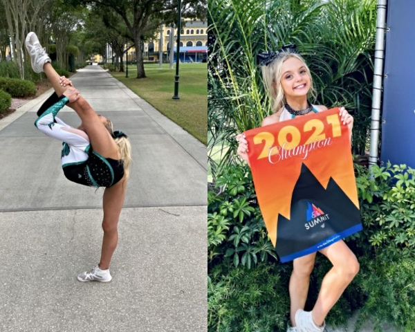 Brooklynn Lily from cheer extreme allstars crush needle and the summit 2021 champion