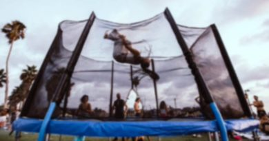 at home trampoline for cheerleaders